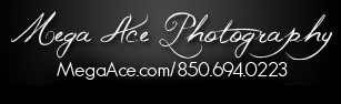 Mega Ace Photography 850-694-0223 North Florida's Creative Photographers logo