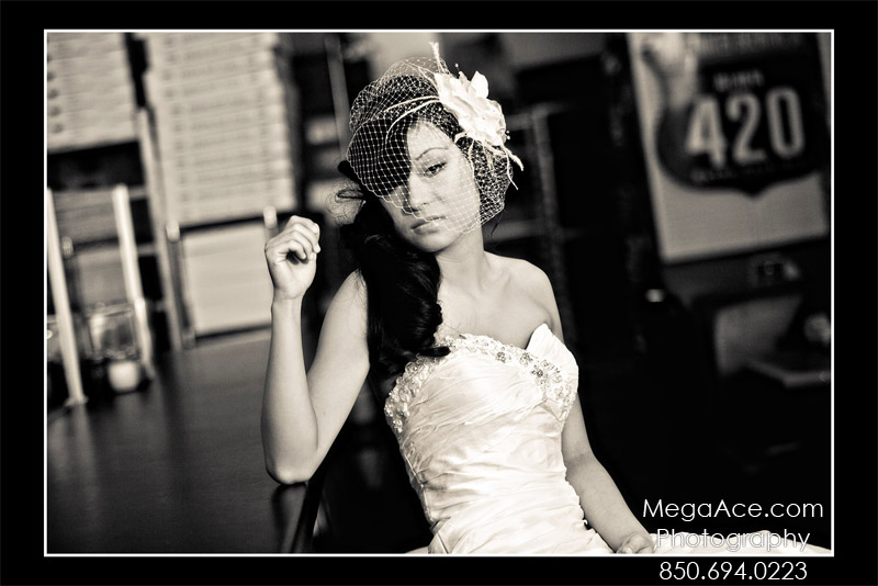 Mega Ace Photography Bride in Pizza Shop